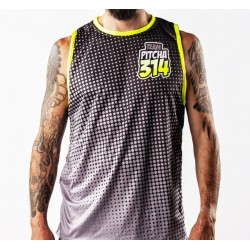 MAILLOT PITCHA HALFTONE TANK BLACK/FLUO YELLOW