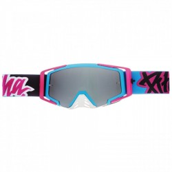 MASQUE PITCHA SAVAGE LE PINK/BLACK - SILVER MIRRORED