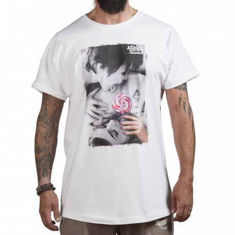 PITCHA LONGER TEE WHITE/LOLLIPOP